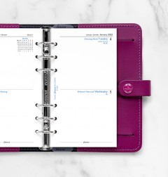 Two Days On One Page Diary English/French/German Personal 2022