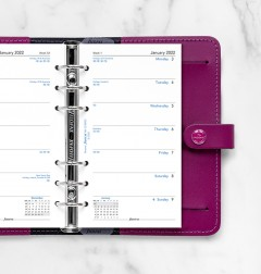 Week On One Page Diary Personal 2022