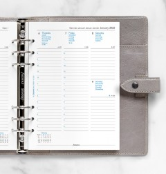 Week On Two Pages Diary With Appointments A5 2022