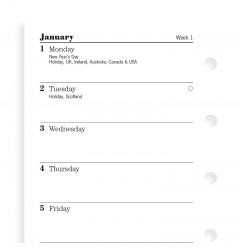 Week On One Page Diary Mini 2020