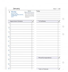 One Day On A Page Business Diary A5