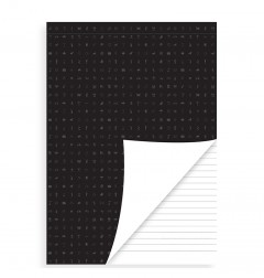 White Perforated Ruled Notepad A5 Refill