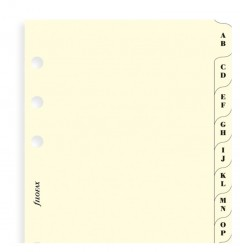 A-Z Index Cream A4 - Two Letters Per Tab