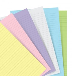 Filofax Notebook Pastel Ruled Paper Refill