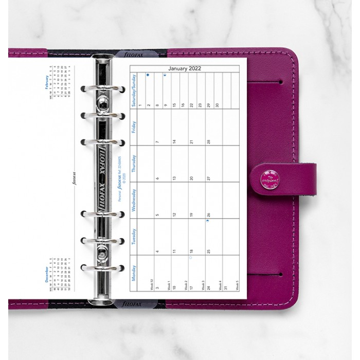 Month On One Page Diary with Notes Personal 2022
