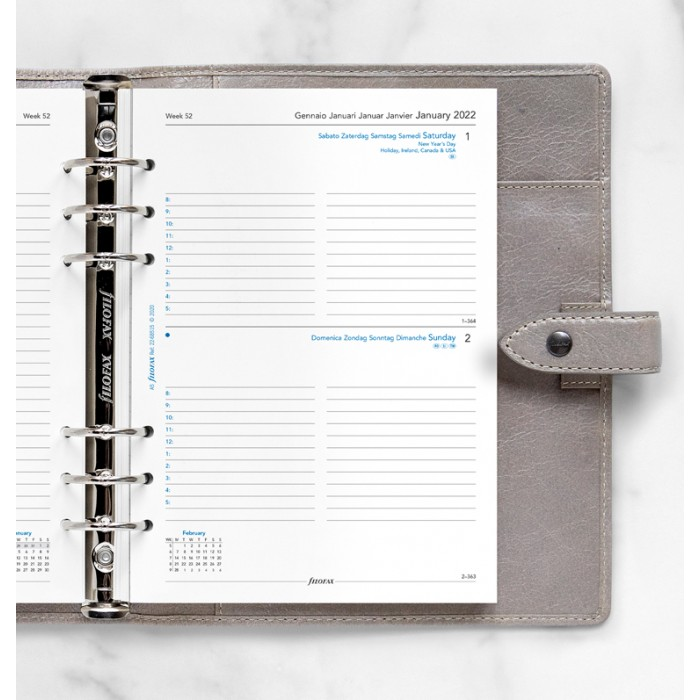 One Day On A Page Diary With Appointments A5 -2022