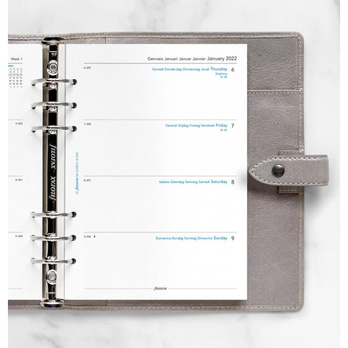 Week On Two Pages Diary A5 2022