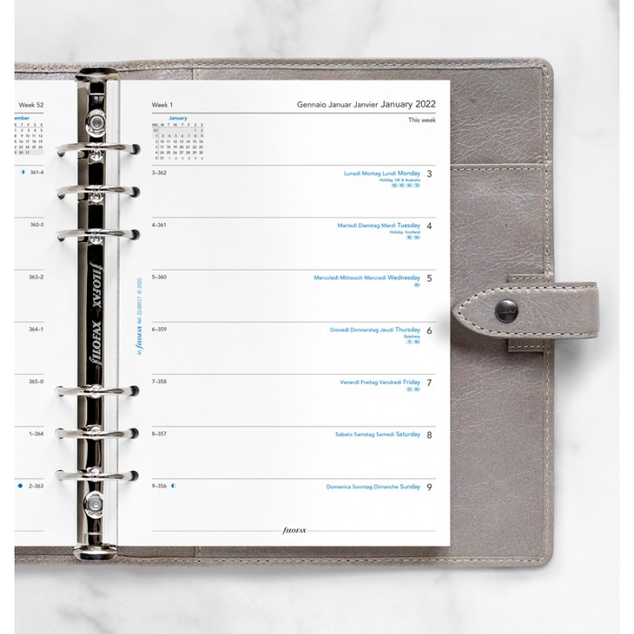 Week On One Page Diary A5 2022