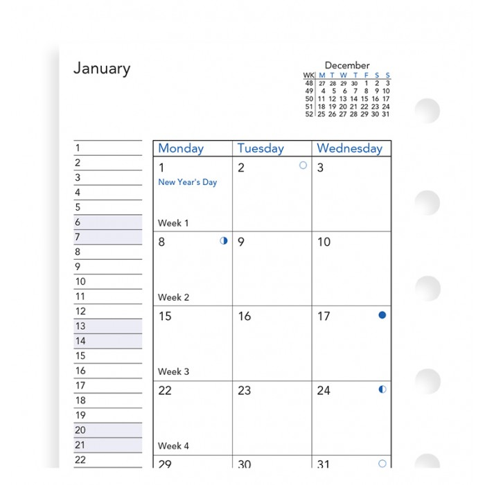 Month On Two Pages Diary Pocket 2021