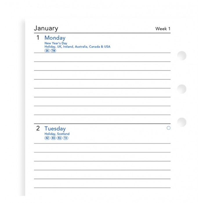 Week On Two Pages Lined Diary Personal 2021