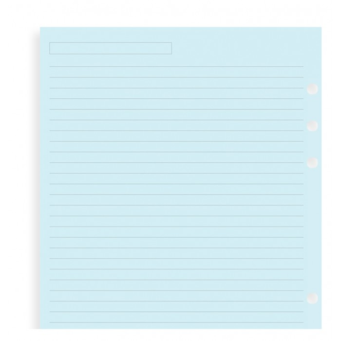 Blue Ruled Notepaper A5 Refill