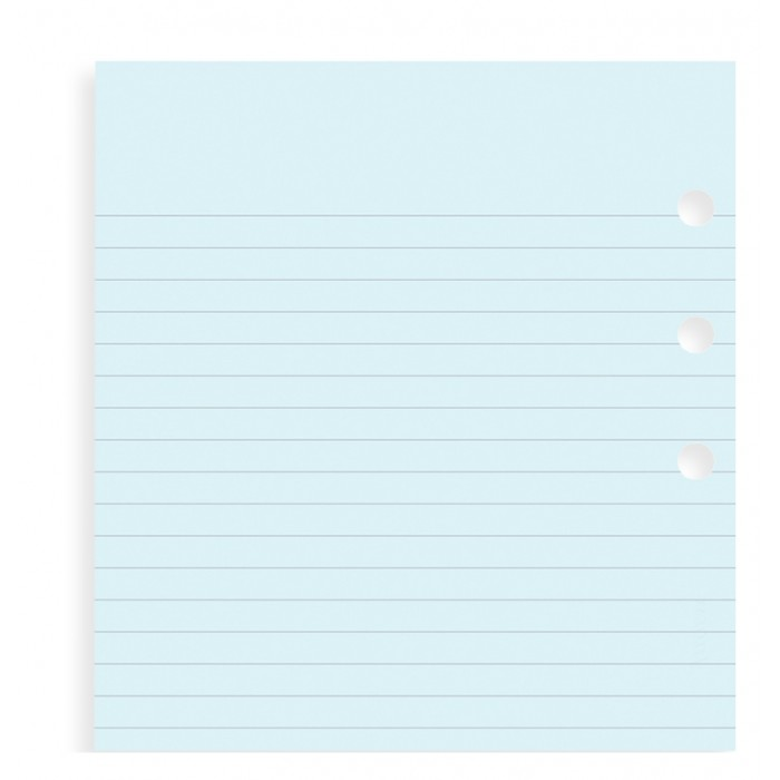 Blue Ruled Notepaper Personal Refill