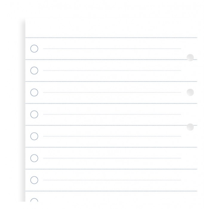 Clipbook Personal Checklists Refill