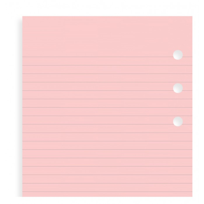 Pink Ruled Notepaper Refill