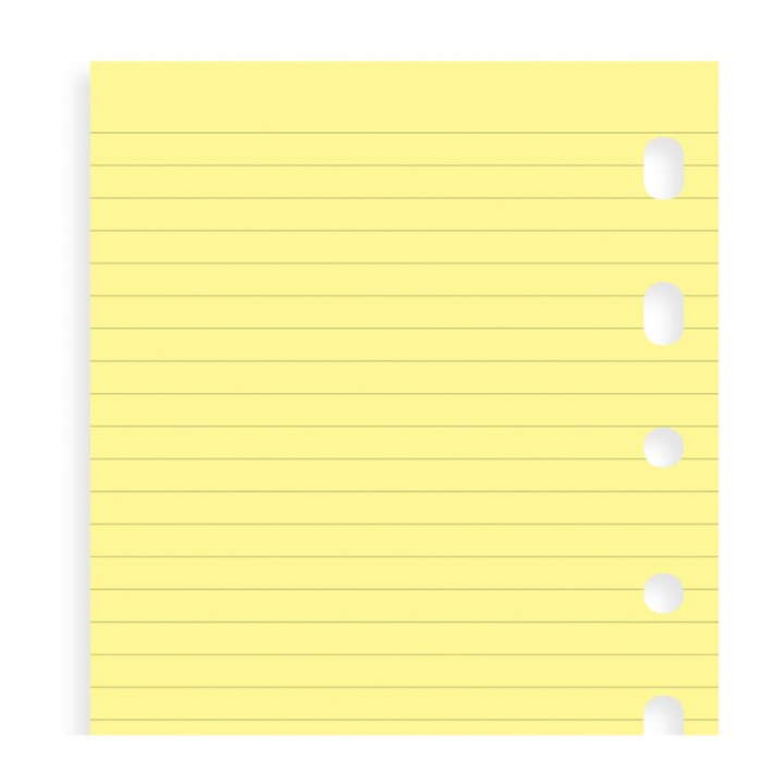 Yellow Ruled Notepaper Pocket Refill